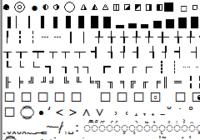 символы для групп